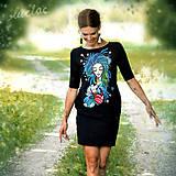 - Vreckové šaty s maľbou Still - 9526472_