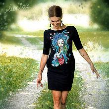 Šaty - Vreckové šaty s maľbou Still - 9526472_