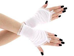 Rukavice - Dámské svadobné biele rukavice, spoločenské rukavičky 0751 (3XL - Červená) - 9526106_