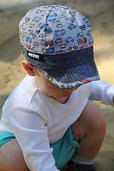 Detské čiapky - Letná šiltovka autíčka - 9527615_