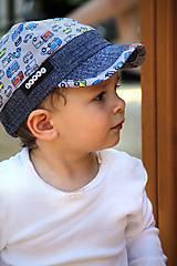 Detské čiapky - Letná šiltovka autíčka - 9527616_