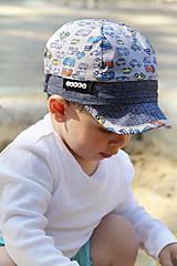 Detské čiapky - Letná šiltovka autíčka - 9527617_