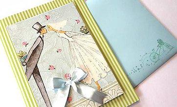 Papiernictvo - Pohľadnica Svadobný bozk 2 - 9523665_