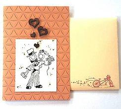 """Papiernictvo - Svadobná pohľadnica """"láska"""" - 9523706_"""