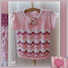 Detské oblečenie - Ružové tričko s vlnkami - 9524294_