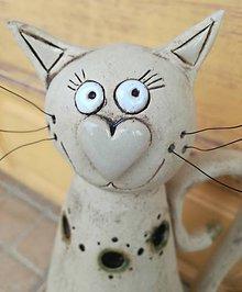 Svietidlá a sviečky - Mačka svietnik II. - 9523586_