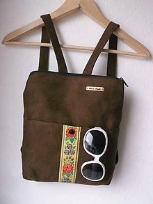 Batohy - folkový batoh/čokoládka - 9524292_