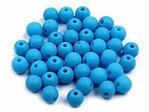 - Plastové korálky 8mm, 20 ks  (Svetlo modrá) - 9524381_