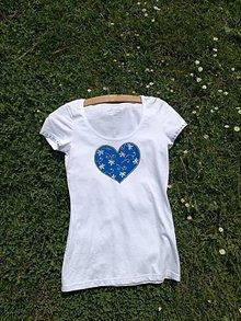Tričká - Tricko modrotlac srdce - 9524229_