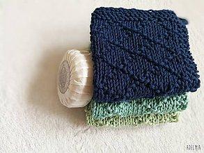 Úžitkový textil - Ručne pletené  bavlnené žinky - 9524483_