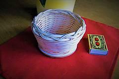 Dekorácie - Košík z pedigu - malý, s kruhovým dnom - 9526274_