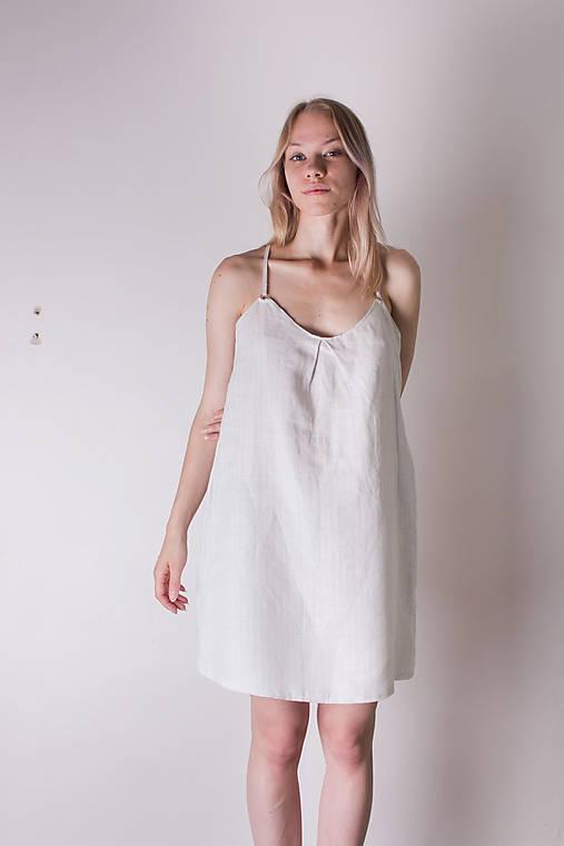 Ľanové šaty   DomsV - SAShE.sk - Handmade Šaty e9f18500ab0