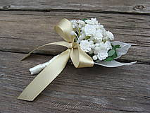 Pierka - Svadobné pierko pre ženícha Nevestin závoj - 9529660_
