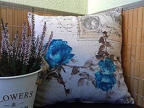 Úžitkový textil - Obliečka na vankuš Retro štýl - 9529216_