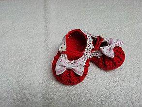 Topánočky - háčkované capačky-baleríny - 9529830_