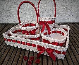 Dekorácie - Svadobné košíčky - väčšie sady (bordová) - 9530126_