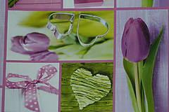 Textil - Látka Tulipán digi - 9531339_