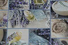 Textil - Látka Levanduľový olej digi - 9531357_