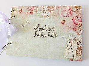 Papiernictvo - svadobná kniha hostí - 9528113_