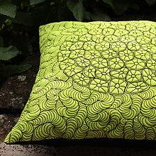 Úžitkový textil - Polštář zelenočerný - 9530271_