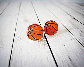 Šperky - Manžetové gombíky basketbalky - 9531438_