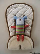 Textil - MERINO podložka do kočíka BUGABOO Bee / Buffalo/ Cameleon/ Donkey/ Joolz 100% WOOL Seat Liner Off White smotanová - 9527770_