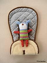 Textil - MERINO podložka do kočíka BUGABOO Bee / Buffalo/ Cameleon/ Donkey/ Joolz 100% WOOL Seat Liner Grey Melange sivá šedá - 9527773_