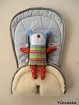 Textil - MERINO podložka do kočíka BUGABOO Bee / Buffalo/ Cameleon/ Donkey/ Joolz 100% WOOL Seat Liner Grey sivá šedá - 9528858_