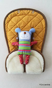 Textil - MERINO podložka do kočíka BUGABOO Bee / Buffalo/ Cameleon/ Donkey/ Joolz 100% WOOL Seat Liner Mustard Yellow horčicovo žltá - 9527739_