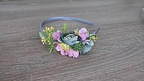 Ozdoby do vlasov - Čelenka ružovkastá - 9528852_