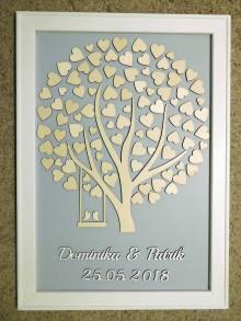 Dekorácie - svadobná kniha hostí/drevený strom 14 - 9530050_