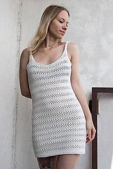 Šaty - Pletené letné šaty - 9530014_
