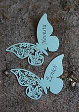 """Papiernictvo - Netradičné menovky s potlačou """"motýľ 1"""" - 9530459_"""