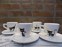 Sada 4 šálok - Black Cats