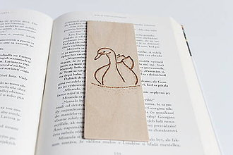 Papiernictvo - Drevená záložka do knihy