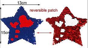 Iný materiál - Nášivka Hviezda reversible - 9530981_