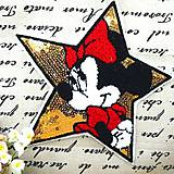 Iný materiál - Nášivka Minnie s flitrami - 9531010_