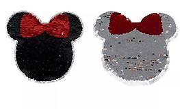 Iný materiál - Nášivka reversible Minnie s mašľou - 9531013_