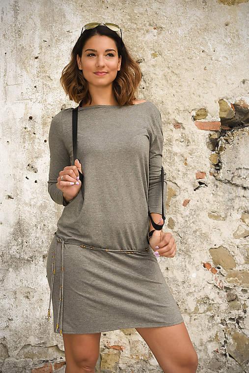Šaty - Šaty Mary - šedozelená - 9528611_