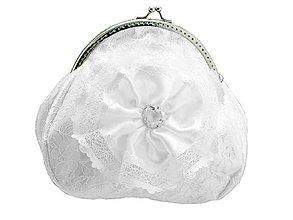 Kabelky - Svadobná kabelka biela, kabelka pre nevestu 149TR - 9531457_