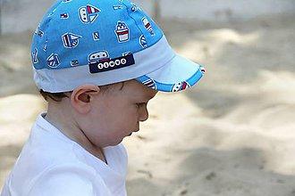Detské čiapky - Letná šiltovka loďky - 9531504_