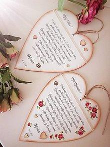 Tabuľky - Poďakovanie svadobné Mama Otec - 9529511_