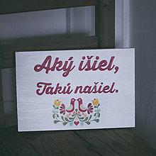 Tabuľky - Aký išiel, (na šírku) - 9529130_