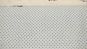 Textil - Bodka mentolová so šedou š.160 - 9529066_