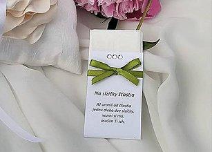 Darčeky pre svadobčanov - Svadobné vreckovky (Zelená) - 9530344_