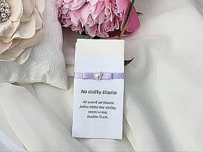 Darčeky pre svadobčanov - Svadobné vreckovky (Fialová) - 9530355_