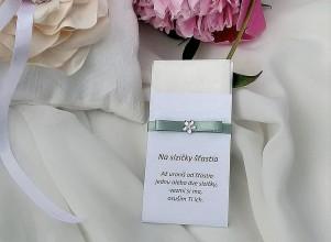 Darčeky pre svadobčanov - Svadobné vreckovky (Zelená) - 9530356_