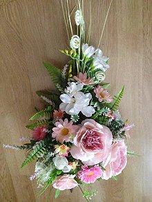 Dekorácie - Gratulacna-svadobna kytica-zlava - 9530589_