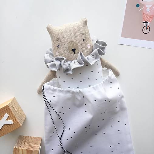 "Hračky - Medvedík ""Silver Collar/Skirt"" - 9529146_"