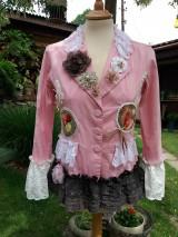 Kabáty - romantické sako v ružovej záhrade - 9532448_